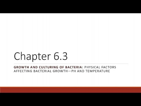 BIO 275 Chapter 06.03 Physical Factors Affecting Bacterial Growth, pt 1