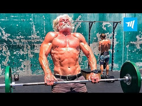 Fittest Old Man in Real Gym - Pete Koch | Muscle Madness
