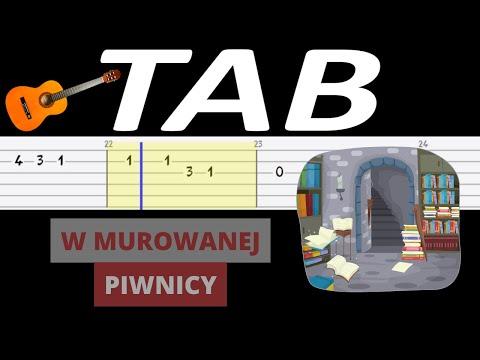 🎸 W murowanej piwnicy - melodia TAB (gitara) 🎸