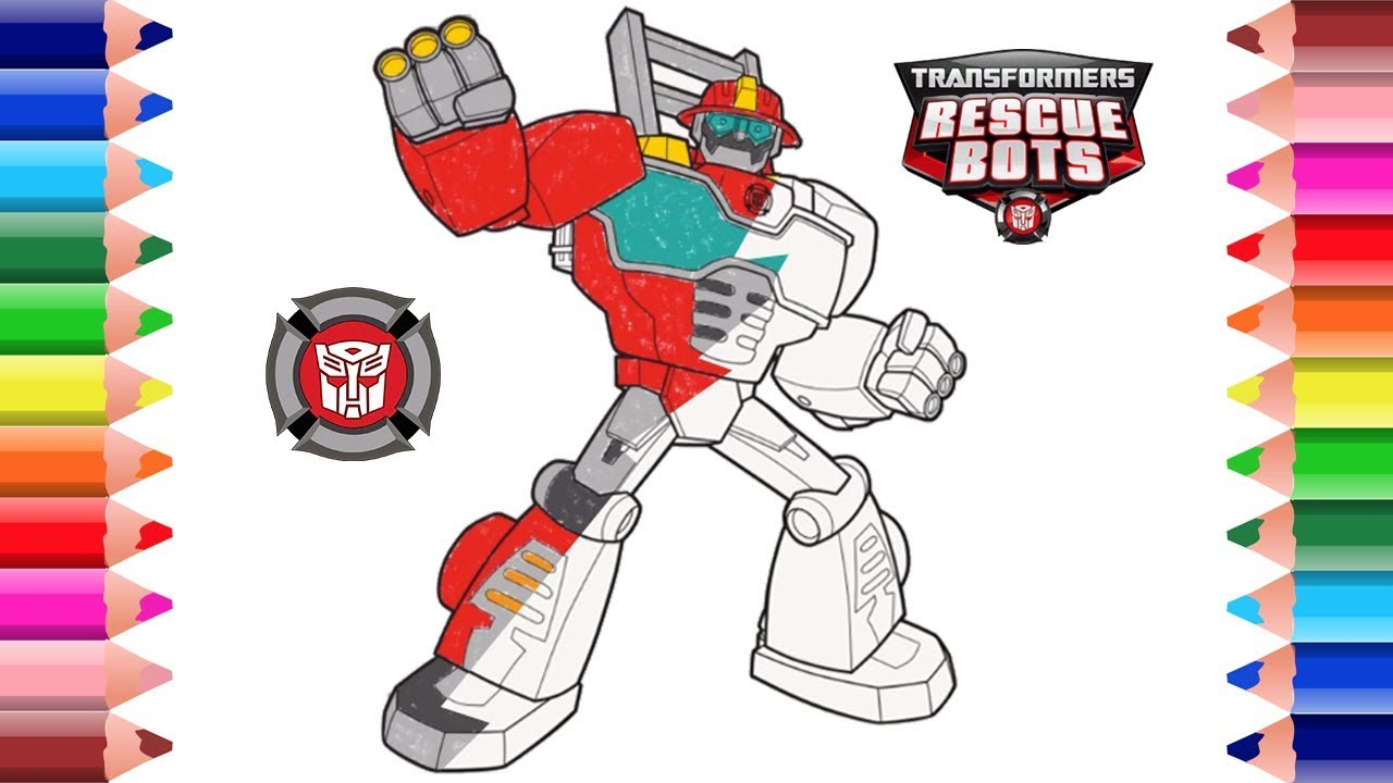 Transformers Rescue Bots Coloring Pages Youtube