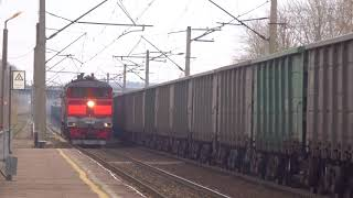 Электровоз ВЛ80С-2713 с грузовым поездом и тепловоз 2ТЭ10М-2290