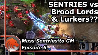StarCraft 2: MASS Sentries vs Broodlords & Lurkers?!