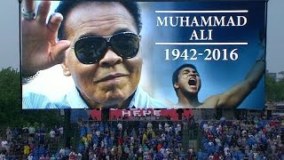 ARI@CHC: Cubs hold moment of silence for Muhammad Ali
