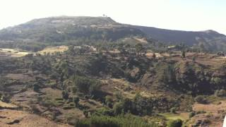 Panoramic view in the Simien foothills