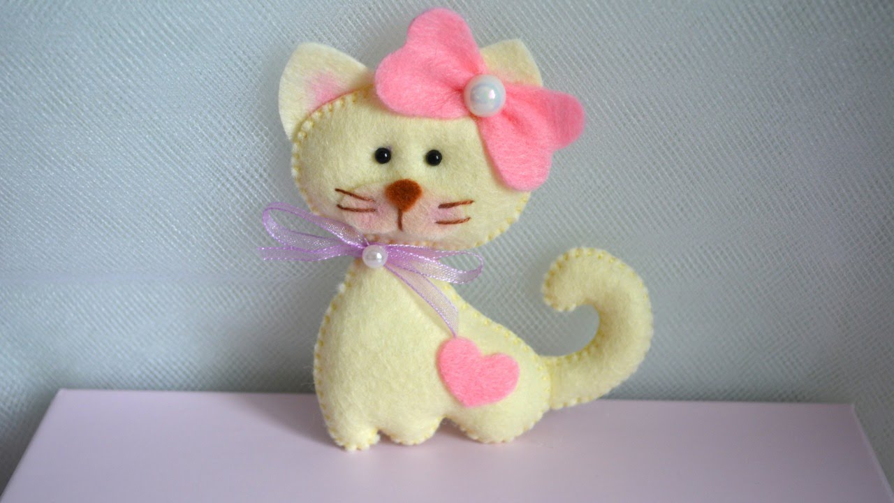 Felt Craft Ideas For Christmas Part - 46: Make A Cute Felt Cat - DIY Crafts - Guidecentral - YouTube