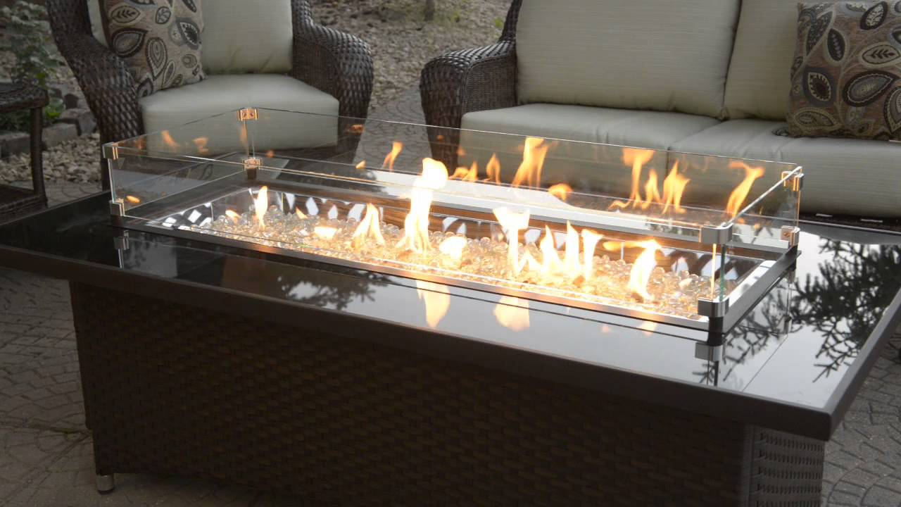 Excellent Outdoor GreatRoom: Montego Fire Pit Table with Balsam Wicker Base  OZ87