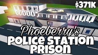 PHOEBERRY'S POLICE STATION/PRISON (371k) Bloxburg Speed Build - France Roblox