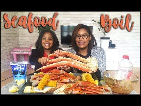 SEAFOOD BOIL MUKBANG 5 • EATING SHOW • 킹크랩 먹방
