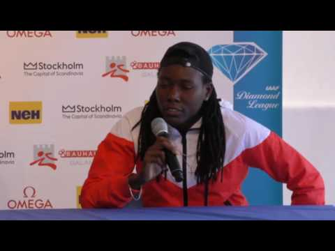 Stockholm IAAF Diamond League press conference: Brittney Reese, Brooke Stratton and Khaddi Sagnia