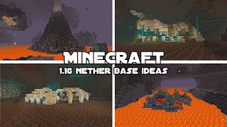 Cool Minecraft Bases for the New Nether Biomes! [Minecraft 1.16]