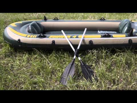 4 person inflatable fishing boat intex 68351ep youtube for 4 person fishing boat