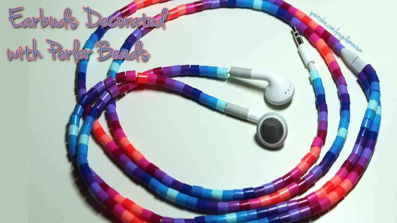 tutorial decorating earbuds with perler beads youtube