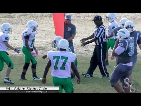 Adam Stohn Cain 2018 MVP Grantham Middle school 8th Grade Football Highlights (HD)