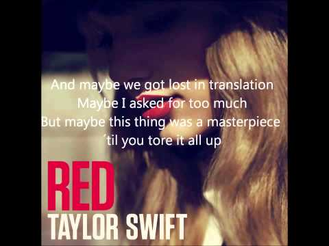 All Too Well   Taylor Swift Full Audio with lyrics