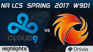 c9 vs p1 highlights game 1 na lcs spring 2017 w9d2 cloud9 vs phoenix1