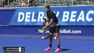 Sock/Withrow vs Monroe/Smith | Doubles FINAL Delray Beach 2018 Highlights HD