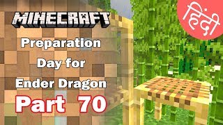 Part 70 - Preparation for Ender Dragon & Scaffholding   - Minecraft PE | in Hindi | BlackClue Gaming