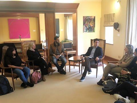 Alumni Gent Salihu talks to WHT Scholars