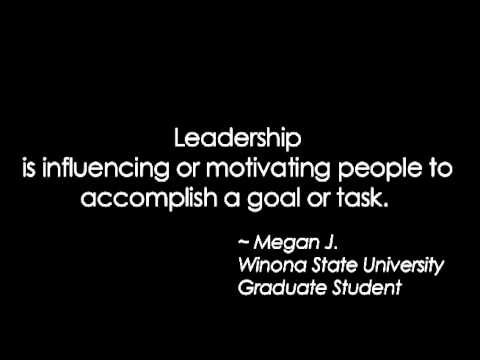 leadership quotes by winona state university graduate