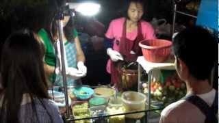 Bangkok Street Food by Night. The Salad Bar. Thailand