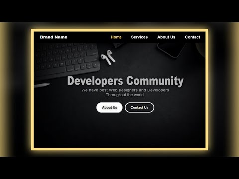 How To Create A Landing Page Using Html And Css. | How To Make Website Using Html And Css Pdf