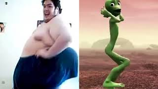El Chombo Dame Tu Cosita  Alien Dance with fat man   Funny dance move by alien