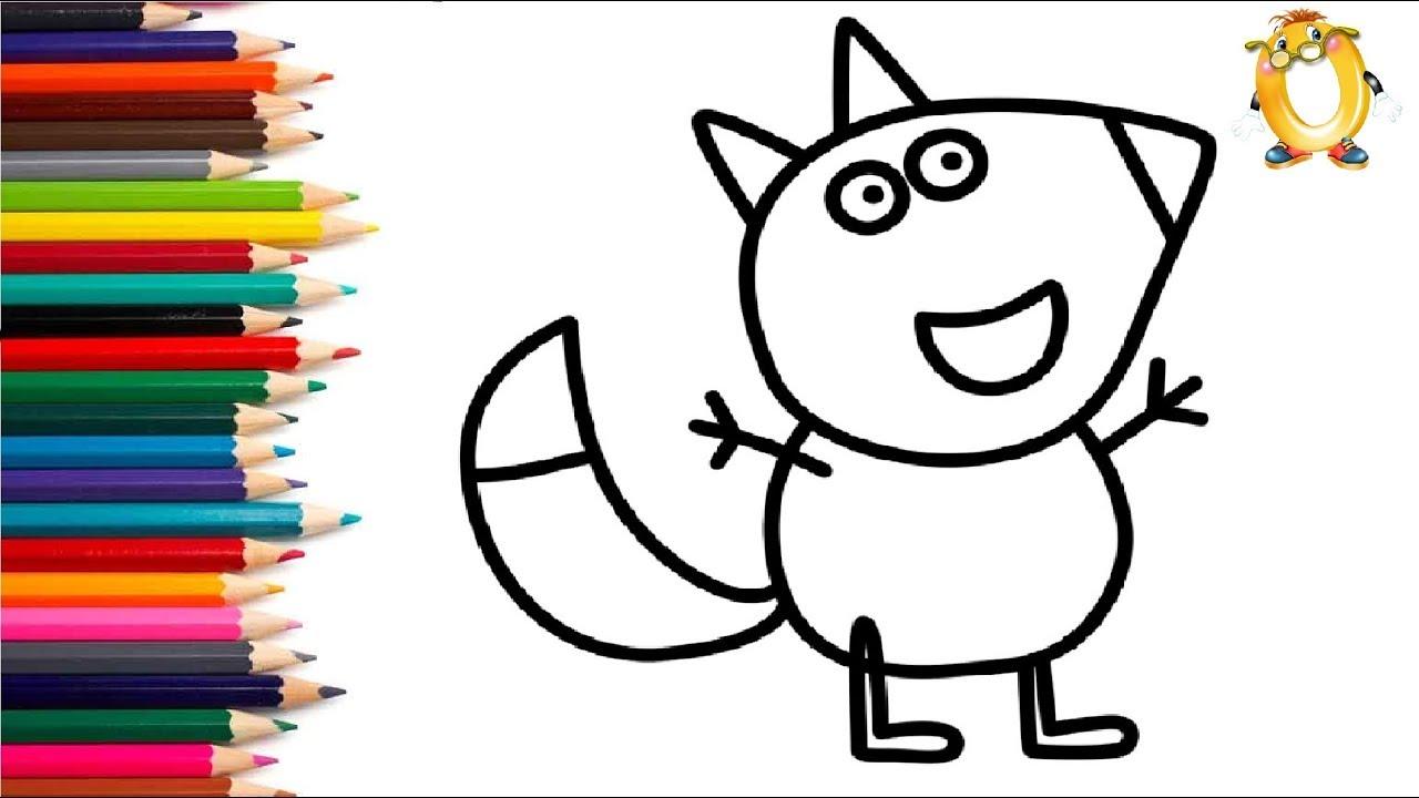 Раскраска для детей ГЕРОИ МУЛЬТИКА СВИНКА ПЕППА: Лисенок ...