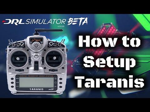 How to setup a taranis to work with DRL Simulator