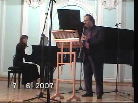 Neidich Gorokholinskaya Ravel Habanera for Clarinet and Piano