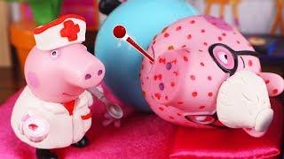 Peppa Pig Juguetes en Español 🐷Papa Pig está enfermo y Peppa lo cuida
