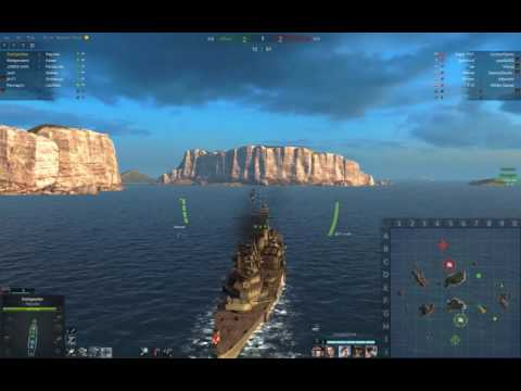 A match in the free battleship Repulse (Steel Ocean Gameplay)