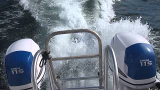 Twin Vee Catamaran 22 running in Kingston Harbour, Jamaica part1