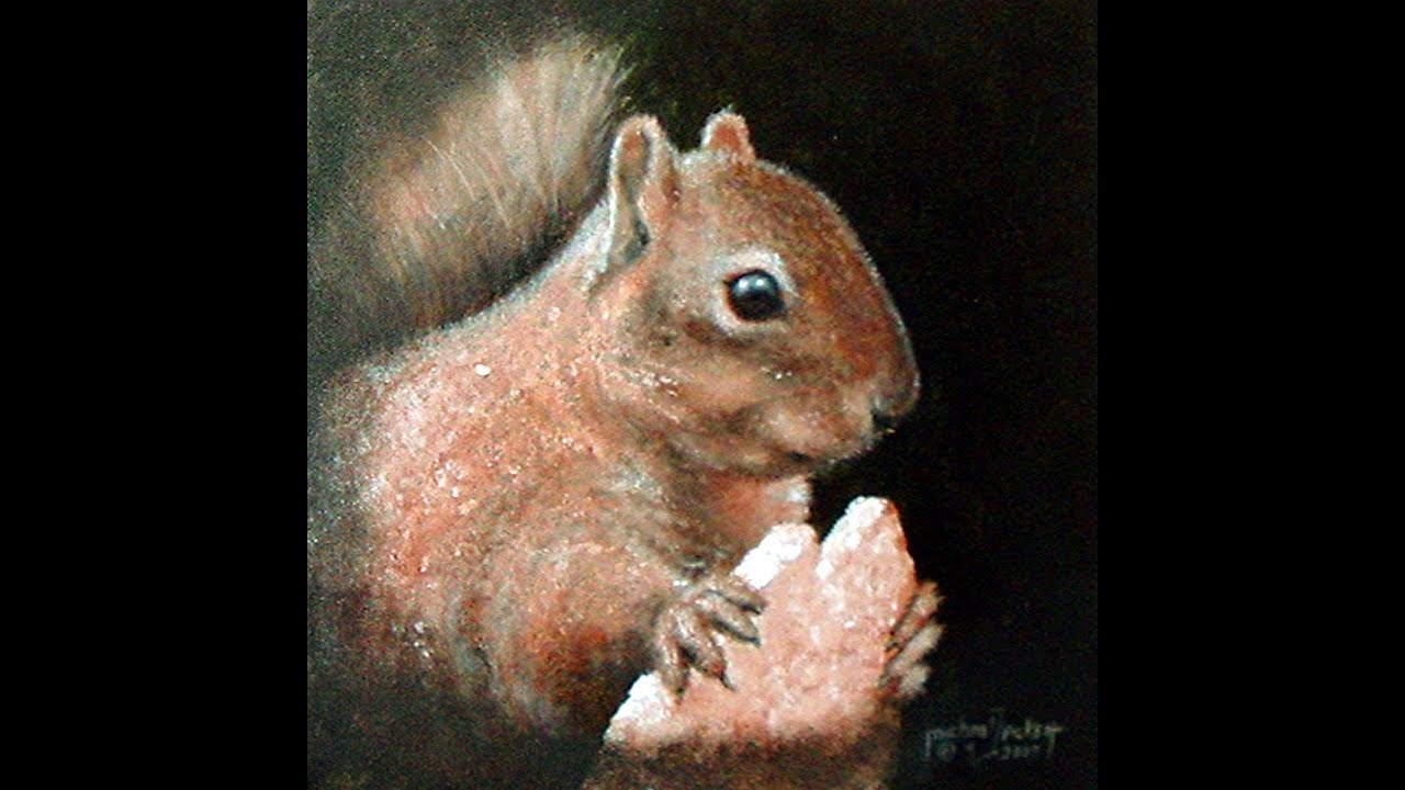 Learn How To Paint A Squirrel In Acrylic On Canvas Part 1