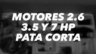 Motores fuera de borda - 2,6 3,5 y 7 HP
