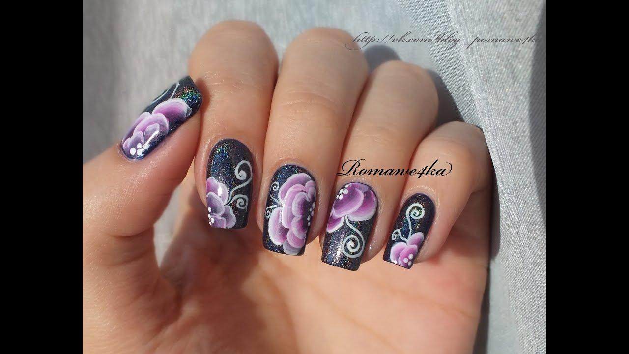 Роспись на ногтях маникюр