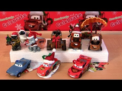 Disney Cars Christmas Decorations.8 Cars 2 Hallmark Christmas Ornaments 2012 Holiday Edition Keepsake Wall E Disney Dumbo Pixar Toys
