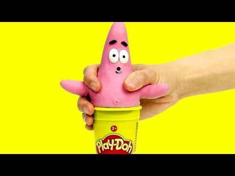 Patrick costume dress up fun cartoon 💕Superhero Play Doh Stop motion for kids