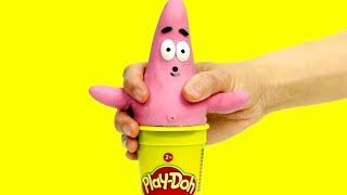 Patrick costume dress up fun cartoon 💕Superhero Play Doh Stop motion for kids