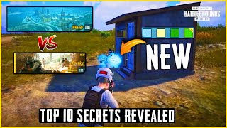Season 18 HUGE Update : Top 10 Secrets || Pubg New Version