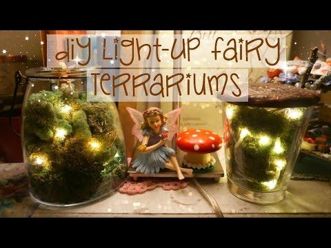 Diy Light Up Fairy Terrariums Easy Youtube