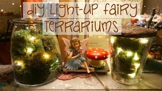 ✧ DIY Light-Up Fairy Terrariums ✦ Easy! ✧