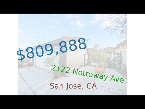 $809,888 San Jose home for sale on 2020-12-15 (2122 Nottoway Ave, CA, 95116)