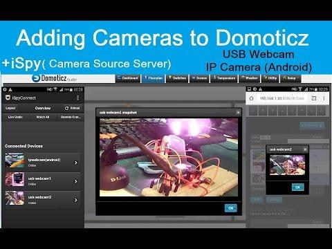 ESP8266, Adding Cameras to Domoticz(Floorplan)+ iSpy(Camera Srv )+  UsbWebcam,IPcamera(Android)(7/7)