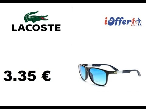 UNBOXING IOFFER LUNETTE DE SOLEIL LACOSTE 3.35 € PAS CHER ! - YouTube d849d18ab7d4