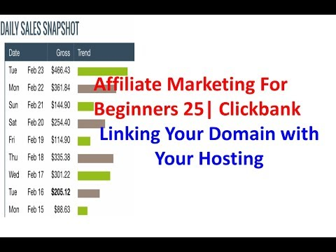 Affiliate Marketing For Beginners 25 | Clickbank | Linking Your Domain with Your Hosting