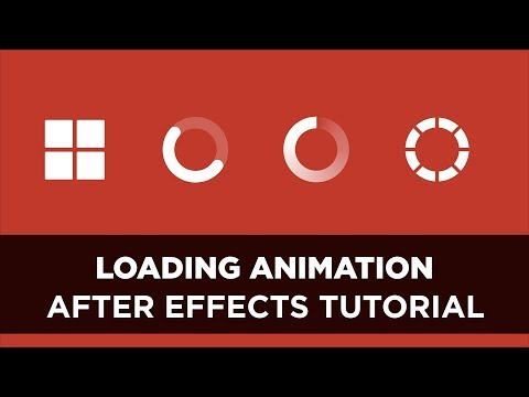 After Effects - Animated Loading Icon Tutorial #1