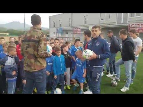 NK Vitez na treningu ŠN Romari (9.5.2016.)