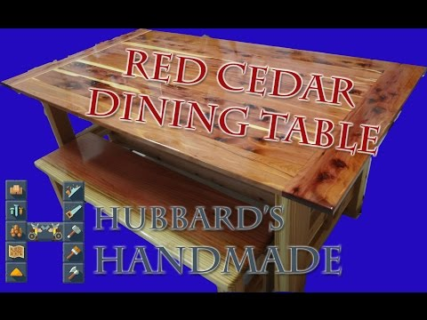 2X6 Redwood and Red Cedar Dining Table