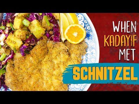 INCREDIBLY DELISH Veal SCHNITZEL and Rainbow Potato Salad! Refika Twist on German/Viennese Classics