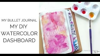 How to: DIY Watercolor Dashboard